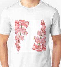 Watercolor Pink Floral Design T-Shirt