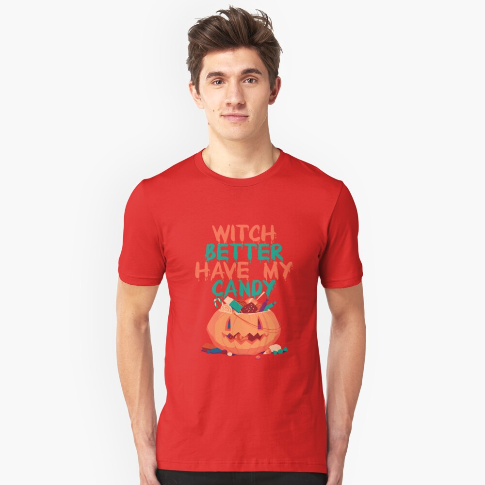 Funny Halloween Gifts For Kids. Pumpkin Shirts For Halloween Unisex T-Shirt Front