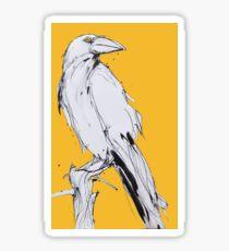 yellow raven Sticker