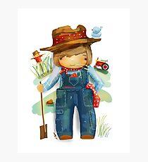 The Little Farmer Photographic Print
