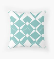 Abstract geometric pattern - blue and white. Throw Pillow