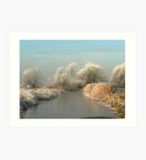 A MAGICAL WINTERS MORNING Art Print