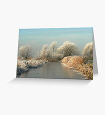 A MAGICAL WINTERS MORNING Greeting Card