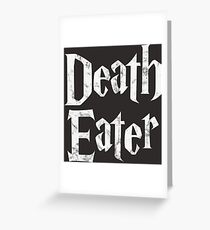 Death Eater vintage style logo Greeting Card
