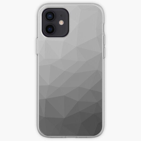 Gray Gradient Geometric Mesh Pattern iPhone Soft Case