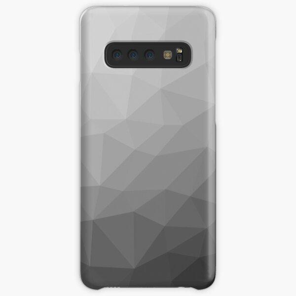 Patrón de malla geométrica degradado gris Funda rígida para Samsung Galaxy