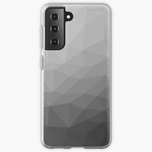 Gray Gradient Geometric Mesh Pattern Samsung Galaxy Soft Case