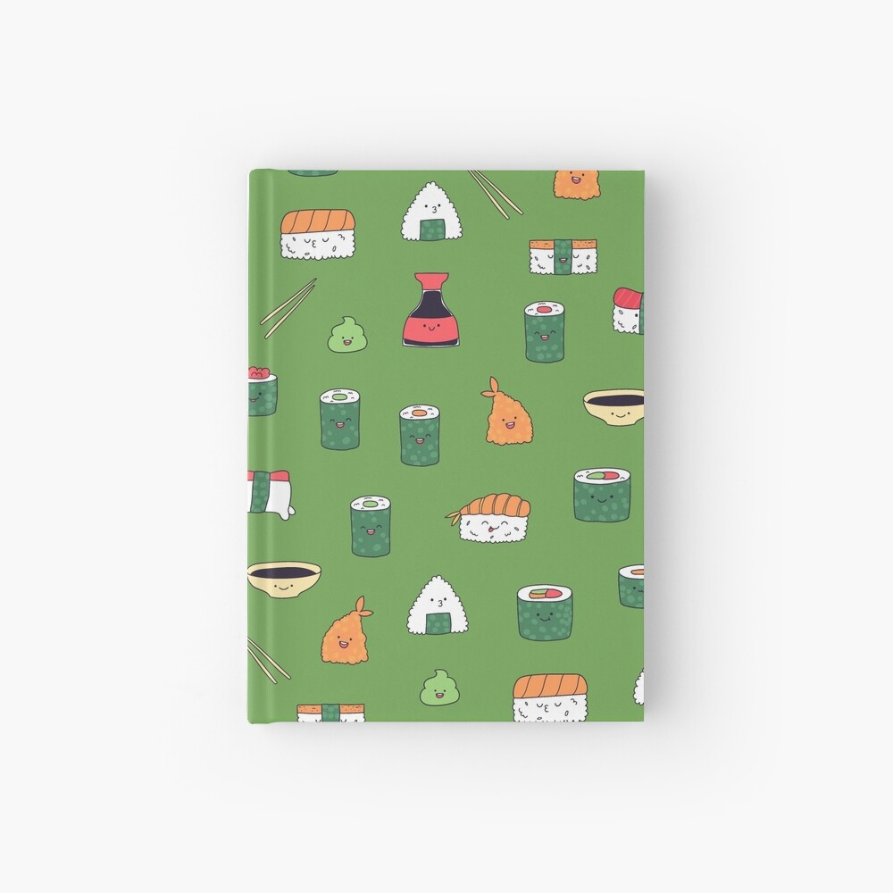 Kawaii sushi Hardcover Journal