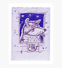 LAIKA BALLPOINT SPACE DOG MIMEO Photographic Print