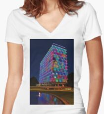 Perth Council House  Women's Fitted V-Neck T-Shirt