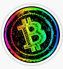 Bitcoin Cash -rainbow Sticker