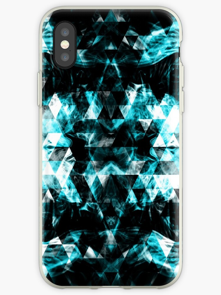 Electrifying blue sparkly triangle flames by PLdesign