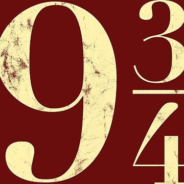 9 3/4 vintage style logo by MediaBee