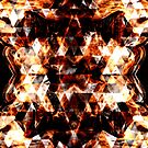 Electrifying orange sparkly triangle fire flames by PLdesign