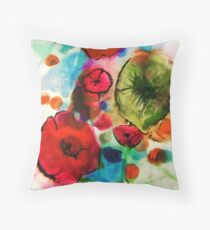 And then she drew Poppies Throw Pillow