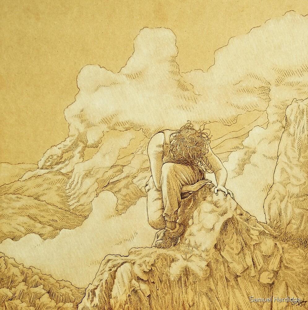 At the Edge of the World - Wood burning by Samuel Hardidge
