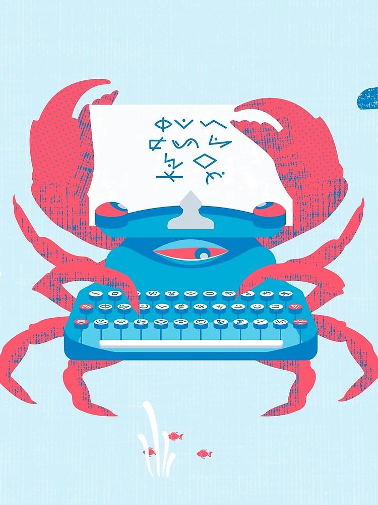 Crab The Typewriter by lino4e4eg