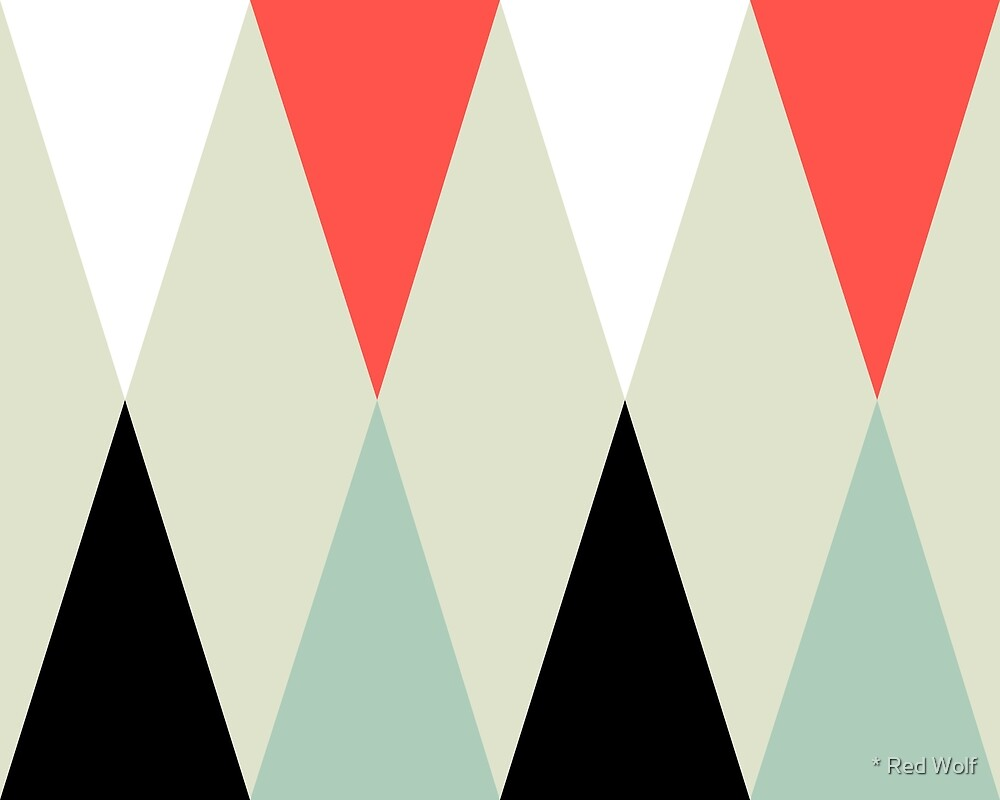 Geometric Pattern: Harlequin: Red/Green by * Red Wolf