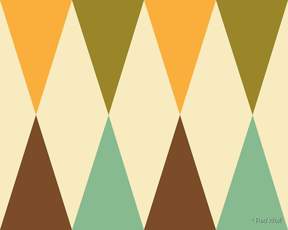 Geometric Pattern: Harlequin: Green/Brown by * Red Wolf