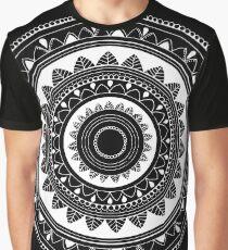 Ukatasana white mandala on black Graphic T-Shirt