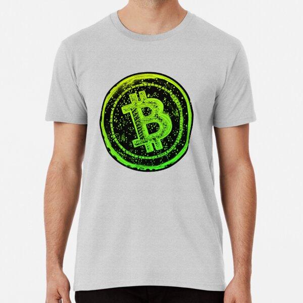 Bitcoin Cash- Green and Yellow Premium T-Shirt