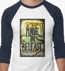 Made in Belfast oil pastel Men's Baseball ¾ T-Shirt