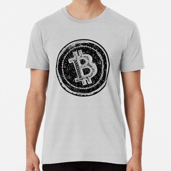 Bitcoin Cash Circle- Black Premium T-Shirt