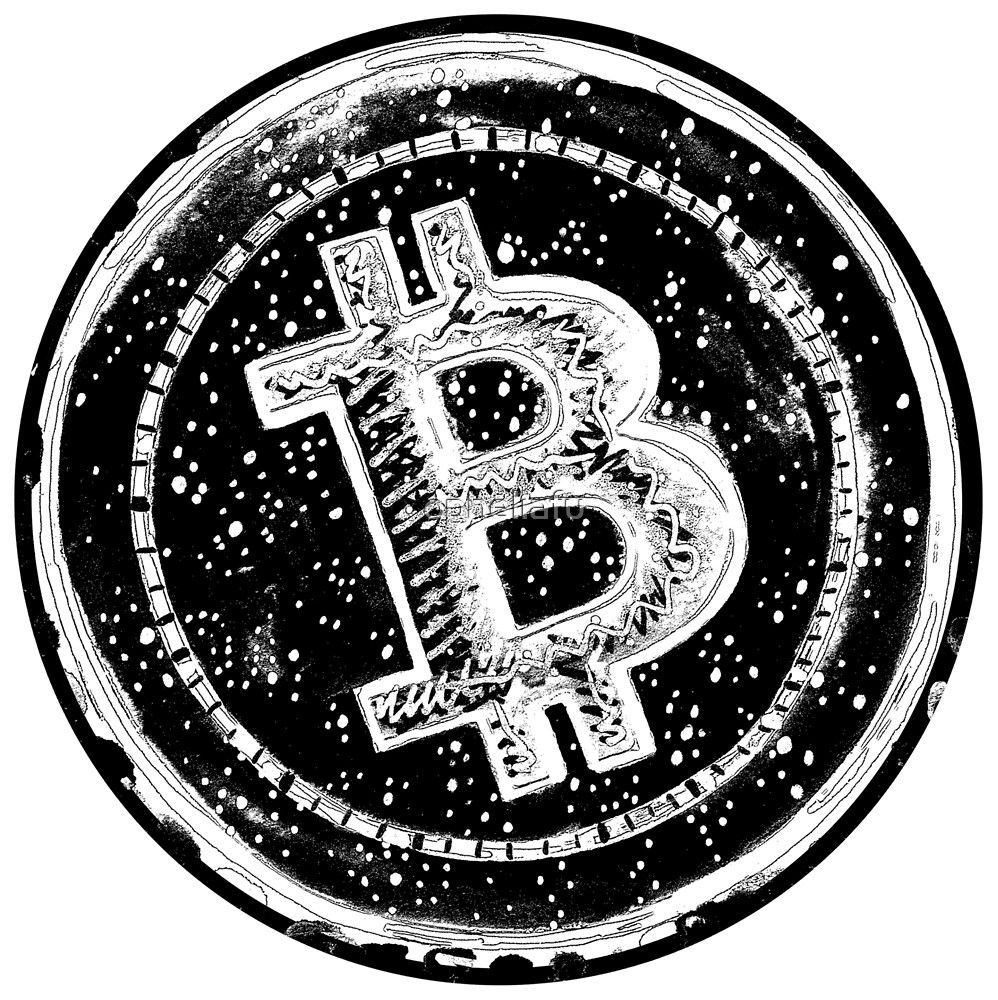 Bitcoin Cash Circle- Black by opheliafu