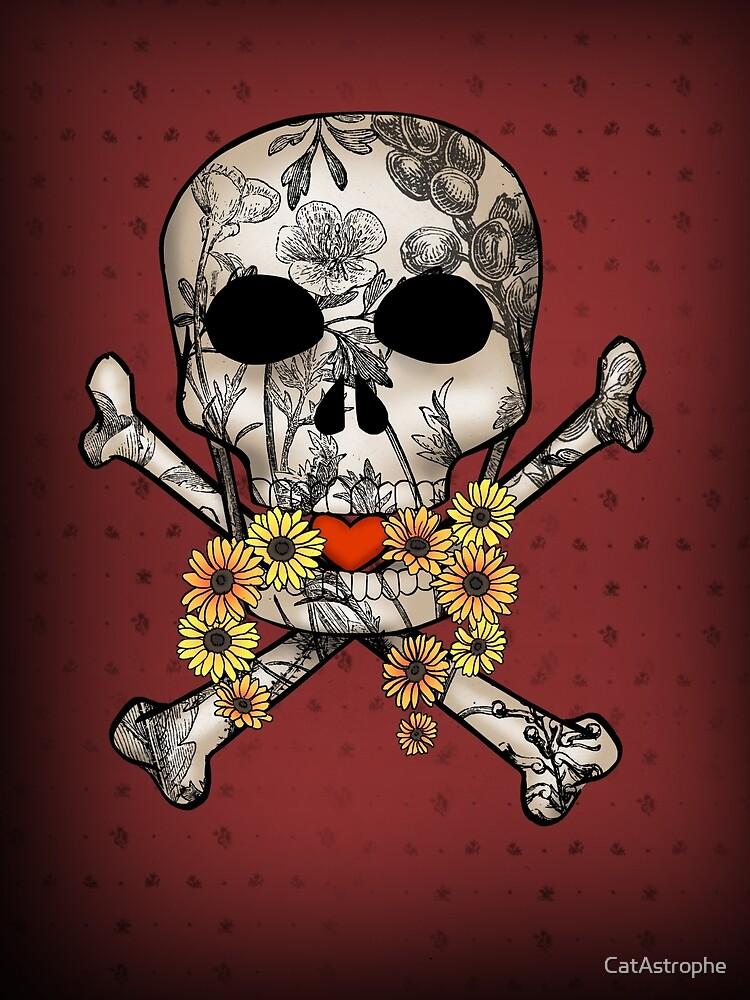 Vintage Skull Valentine by CatAstrophe