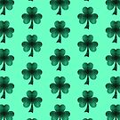 Emerald green shamrock clover sparkles by PLdesign