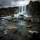 Öxarárfoss Waterfall by George Wheelhouse