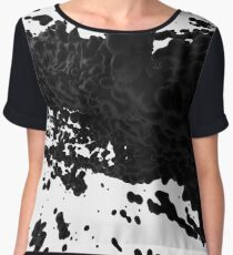 Black Paint 28899 Women's Chiffon Top
