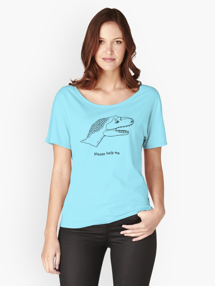 pls help dino Women's Relaxed Fit T-Shirt Front
