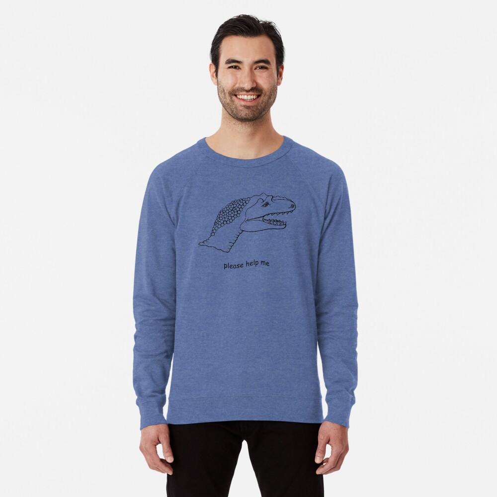 pls help dino Lightweight Sweatshirt Front