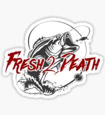 Fresh 2 Death Sport Fishing Logo Sticker