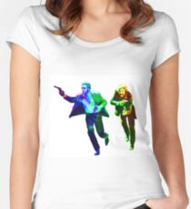 Technicolour Butch and Sundance Women's Fitted Scoop T-Shirt