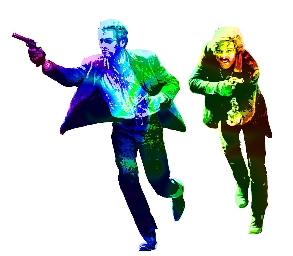 Technicolour Butch and Sundance by Gary Hogben