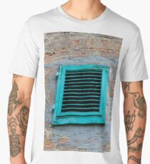 old an abandoned window Men's Premium T-Shirt