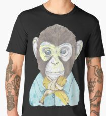 monkey wears banana bow-tie Men's Premium T-Shirt