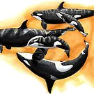 Kasatka and her offspring - Draw Every Captive Orca Project nr. 3 by DutchOrca