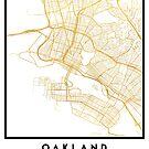 OAKLAND CALIFORNIA CITY STREET MAP ART by deificusArt