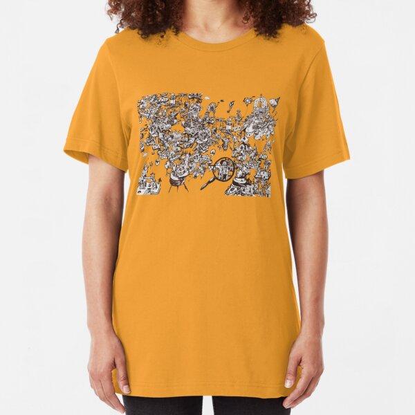 inky_sky_maze_t1 Slim Fit T-Shirt