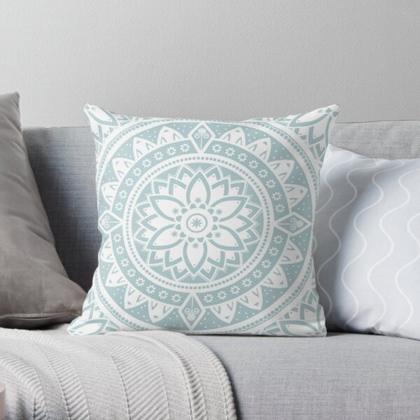 Mandala Yoga Soul / Zen Yoga Meditation Mandala Throw Pillow