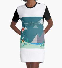 Somewhere Graphic T-Shirt Dress