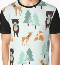 Animals in the winter - pattern  Graphic T-Shirt