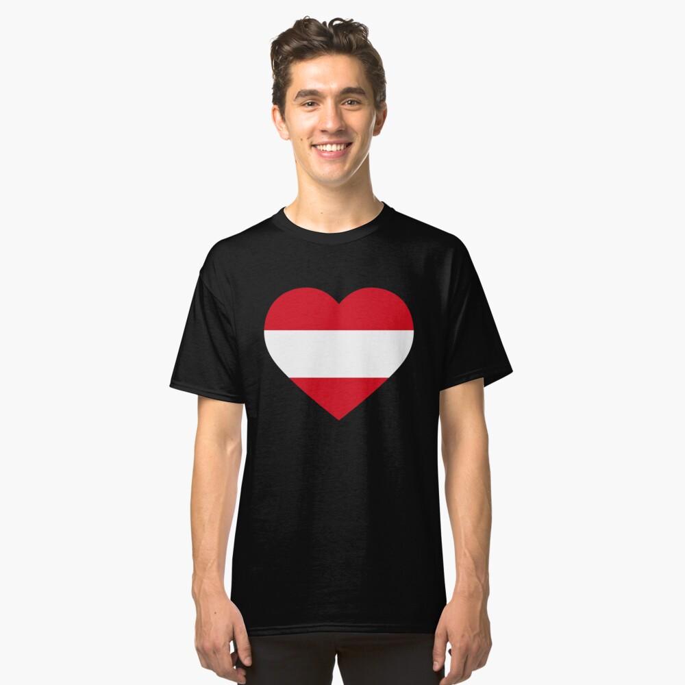 Austrian Heart Classic T-Shirt Front
