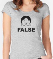 Dwight Schrute False Women's Fitted Scoop T-Shirt
