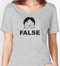 Dwight Schrute False Women's Relaxed Fit T-Shirt