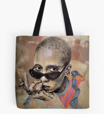 Adwoa wearing Kenzo Tote Bag