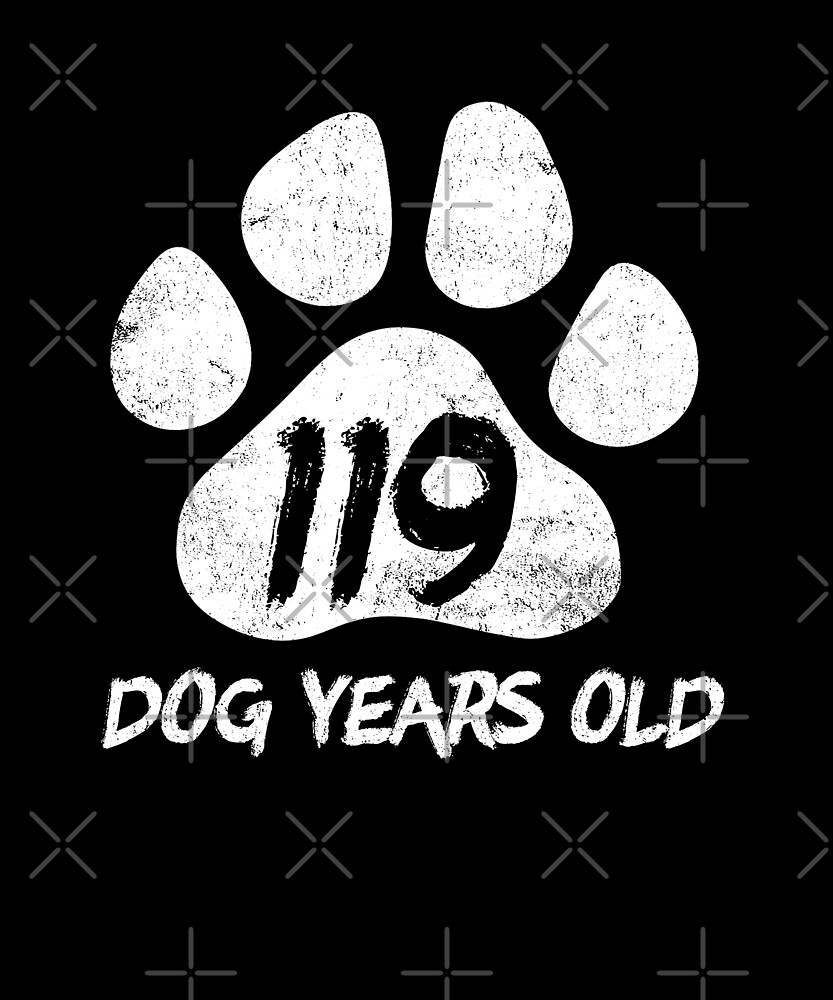 119 Dog Years Old Funny 17th Birthday Teen Gift by SpecialtyGifts